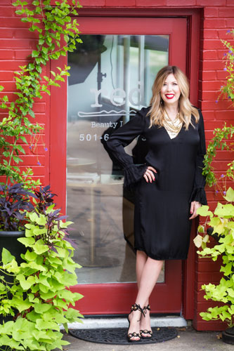 Red Is The Por Luxury Hair Salon Owned By Arkansas Native And Stylist Amy Hester Team Of Professional Stylists Provide A Wide Variety